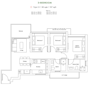 avenue-south-residence-3-bedroom-floor-plan-c1-singapore
