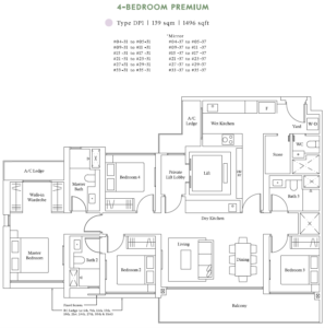avenue-south-residence-4-bedroom-premium-floor-plan-dp1-singapore
